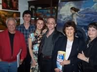 V. Kunin, V. Grzhonka, Mrs. Vainer and Mrs. Kunin