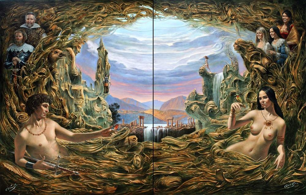 The Lost World (diptych)