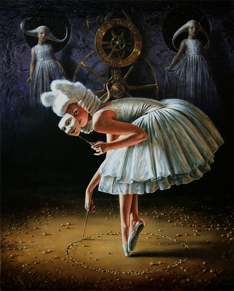 "Circle of Time, 24""x20"" oil on canvas 
