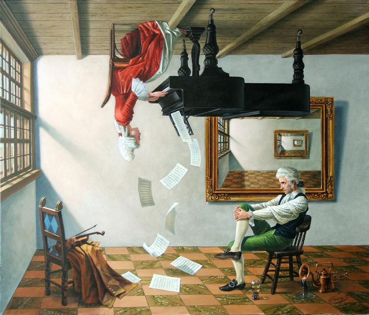 """Discord of Analogy, 30""""x36"""", oil on canvas 
