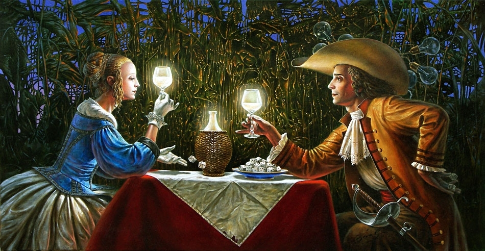 """Delighted by Light, 20""""x38"""", oil on canvas, 2007 
