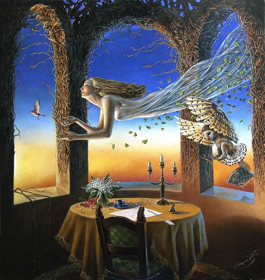 """Sense Of the Night II, 36""""x34"""", oil on canvas, 2007 