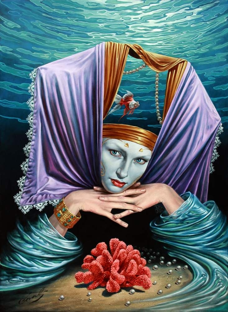 """Profundity Keeper, 30""""x22"""", oil on canvas, 2010 