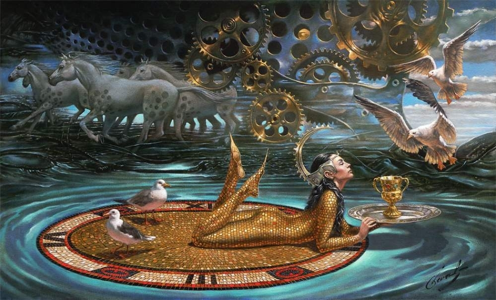 """Zenith of Time, 18""""x30"""", oil on canvas, 2009 