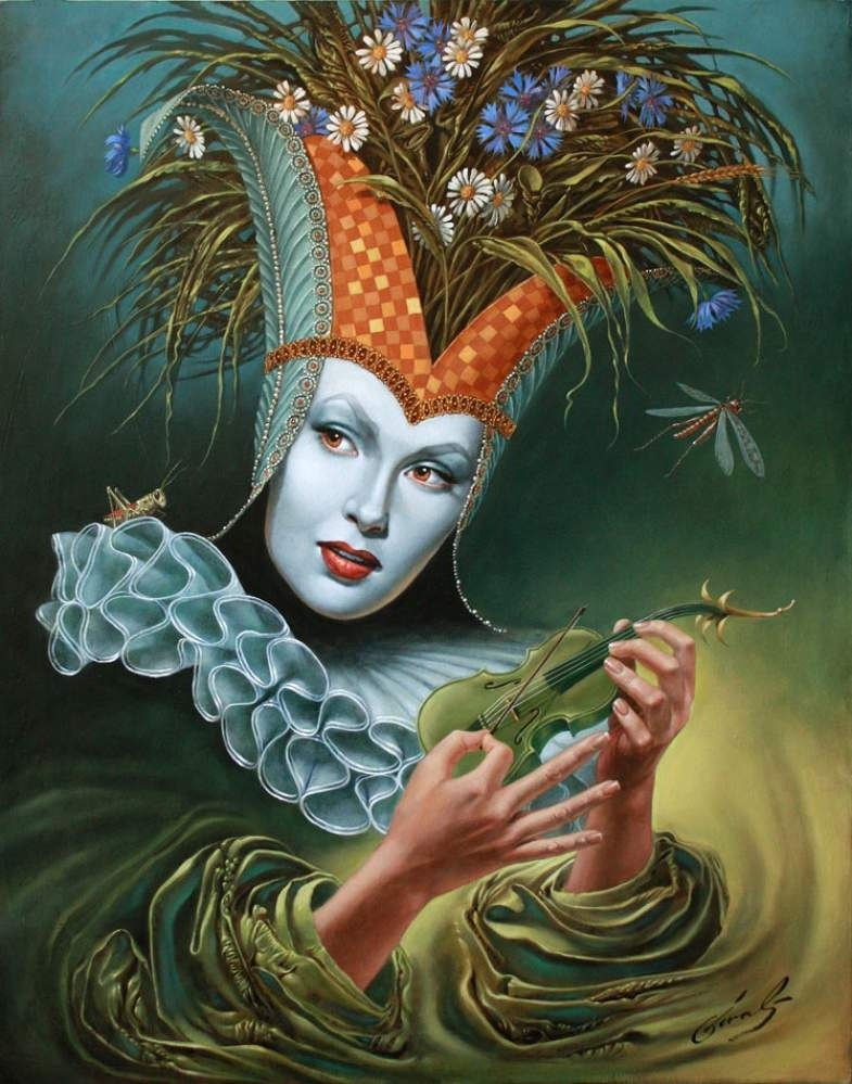 "Midsummer Chirr, 30""x24"", oil on canvas, 2011 