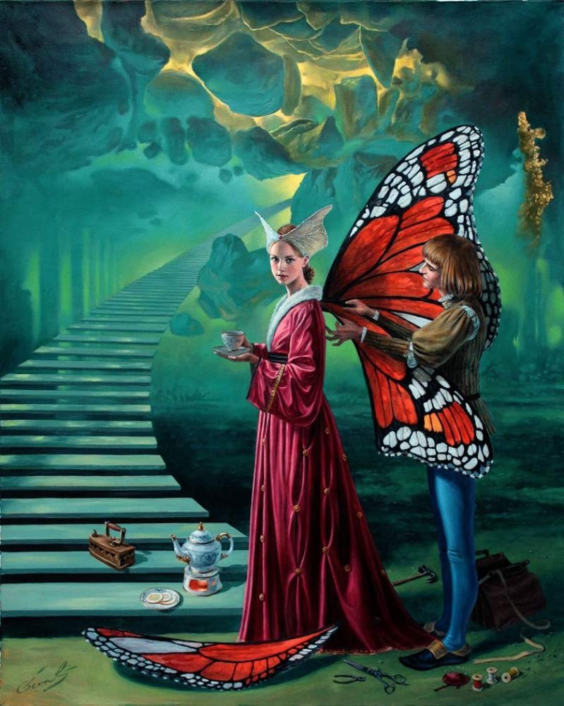 """Stairway To Heaven, 30"""" x 24"""", oil on canvas, 2012 