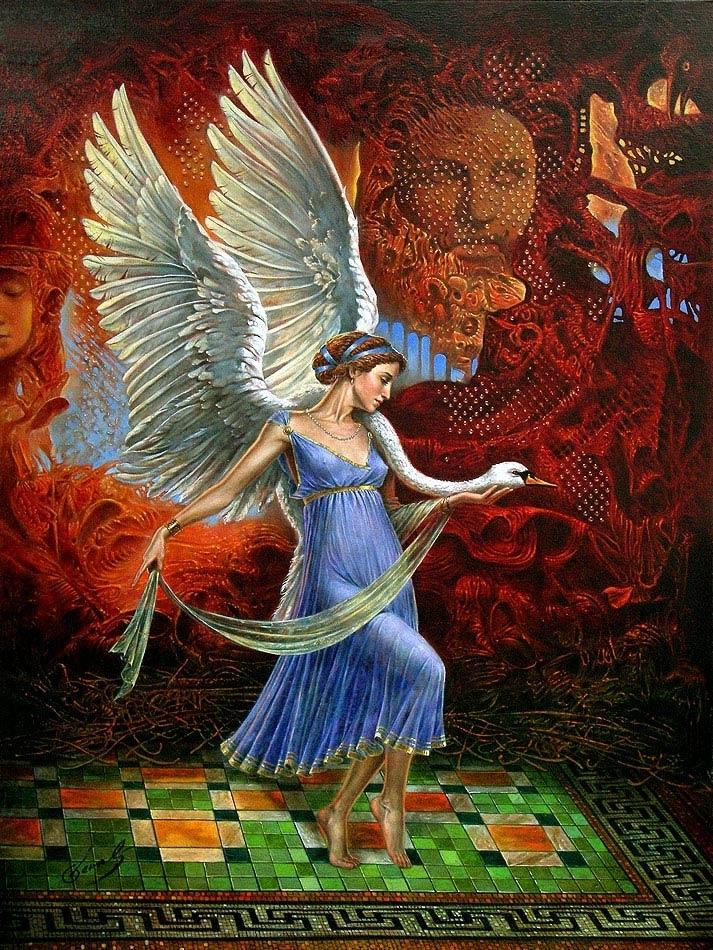 "Leda Victoria, 40""x30"", oil on canvas | 40""x30"", limited edition of 100 | sense |"
