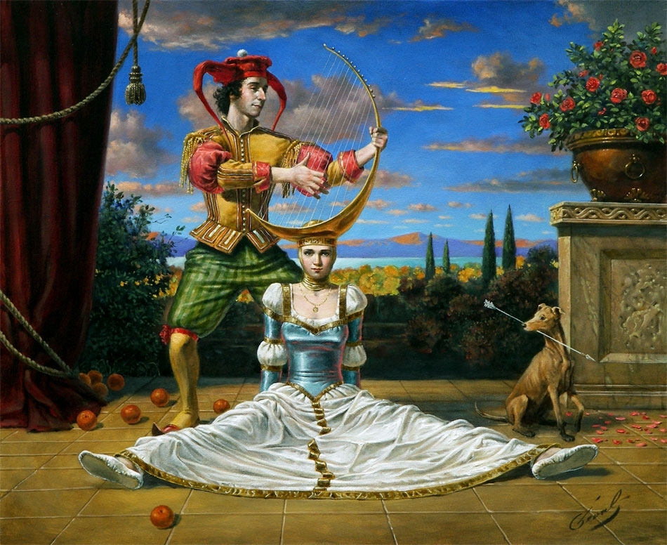 "Spanish Archer Blues, 20""x24"", oil on canvas, 2008 