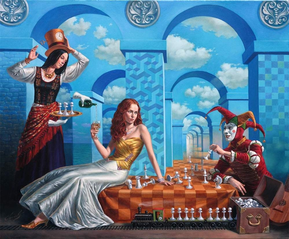 """Illusion of Diversity, 30"""" x 36"""",  oil on canvas, 2013 