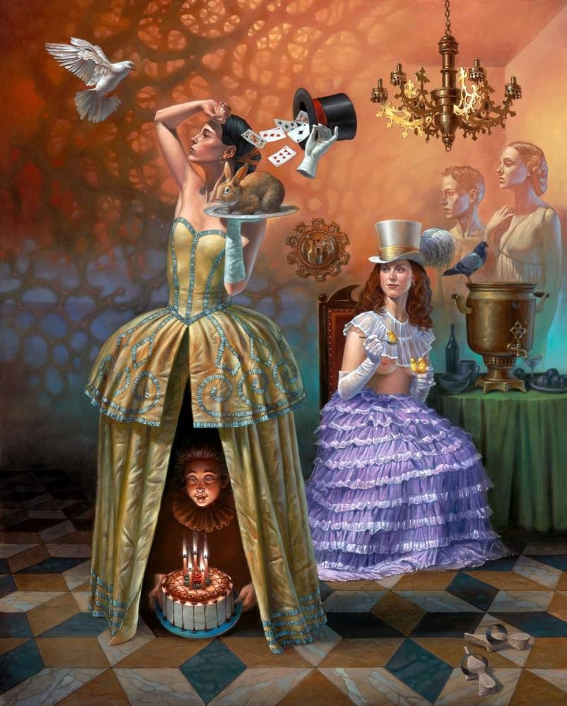 "Magician's Birthday II, 30"" x 24"", oil on canvas, 2015 