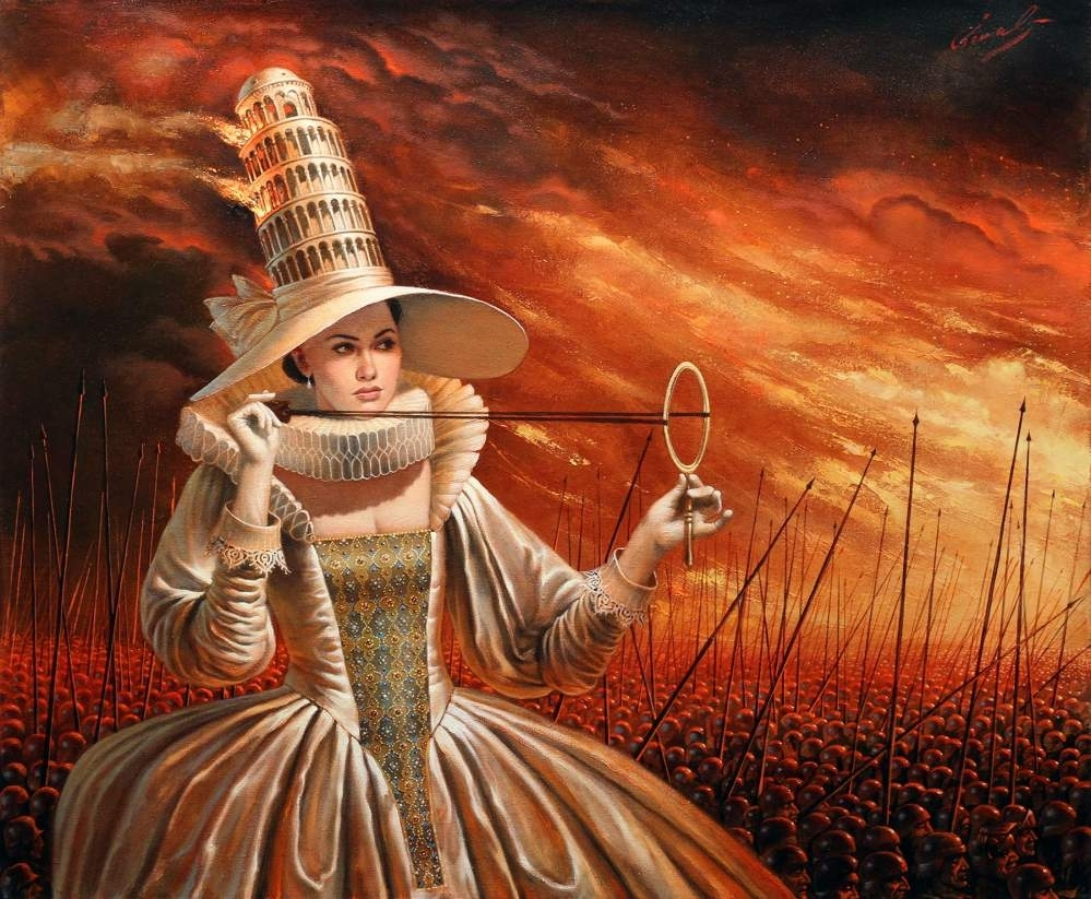 "Glamorous History of Wars, 20"" x 24"", oil on canvas, 2015 