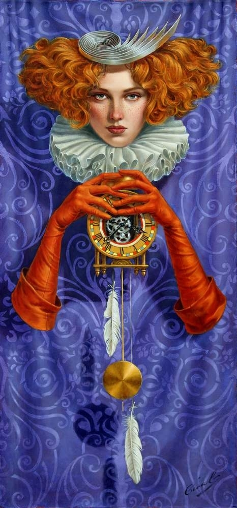 """Levity Of Time, 30"""" x 14"""", oil on canvas, 2017 