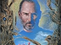 "Sphinx (Portrait of Steve Jobs), 24""x20"", oil on canvas, 2011 