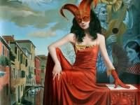 "12th Caprice of Casanova, 30"" x 24"", oil on canvas, 2015   30"" x 24"",  limited edition of 100   sense  "