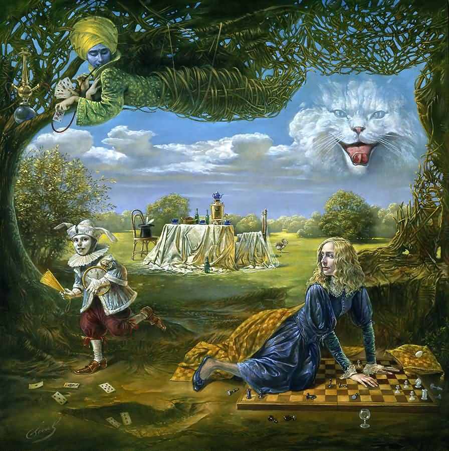 Reality Of Absurdity Michael Cheval Surrealistic Oil